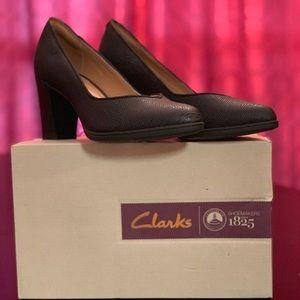 | ❣️🔥NEW  | Clarks Kadri Black Skin Heels |🔥❣️